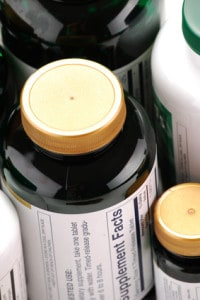 bottles of dietary supplements
