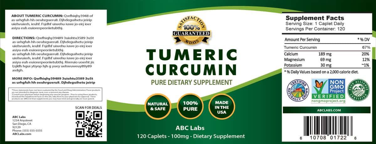 turmeric label
